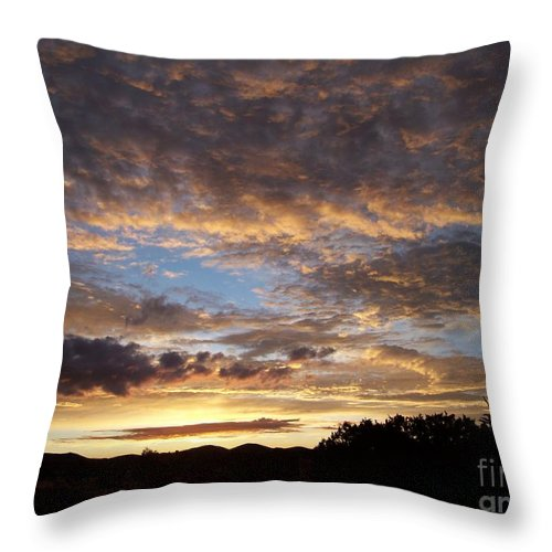 Sunrise Throw Pillow featuring the photograph Santa Fe Sunrise by Brian Commerford