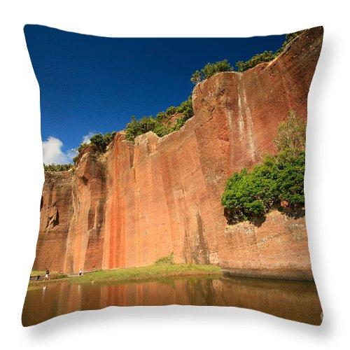 Walls Throw Pillow featuring the photograph Santa Maria Azores by Gaspar Avila