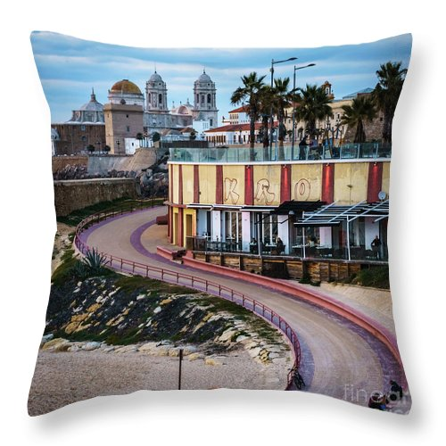 Santa Maria Del Mar Beach Cadiz Spain Throw Pillow For Sale By Pablo Avanzini