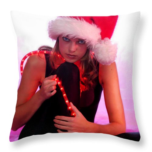 Clay Throw Pillow featuring the photograph Santas Helper by Clayton Bruster