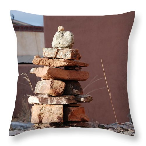 Pop Art Throw Pillow featuring the photograph Sante Fe Rocks by Rob Hans
