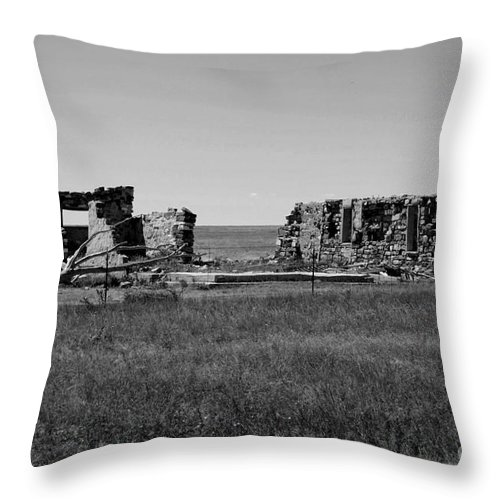 Sante Fe Trail Throw Pillow featuring the photograph Sante Fe Trail Ghost by Tommy Anderson