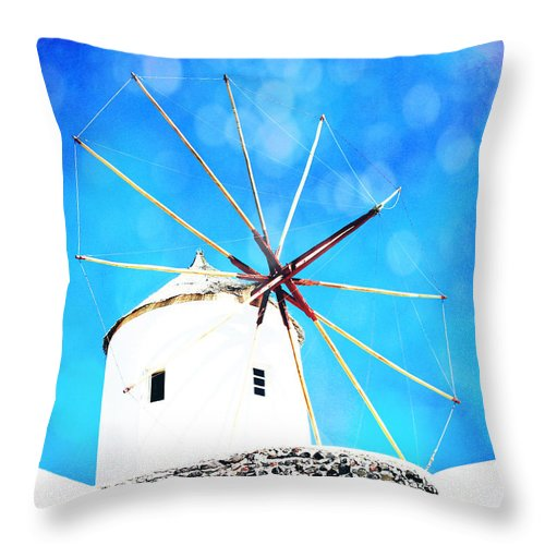 Throw Pillow featuring the photograph Santorini 2 by Sylvia Coomes