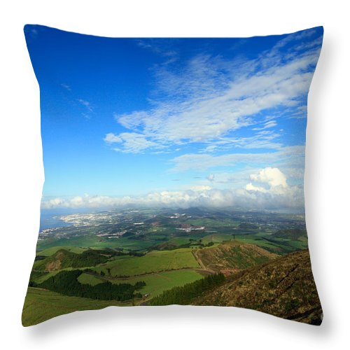 Azores Throw Pillow featuring the photograph Sao Miguel Island by Gaspar Avila
