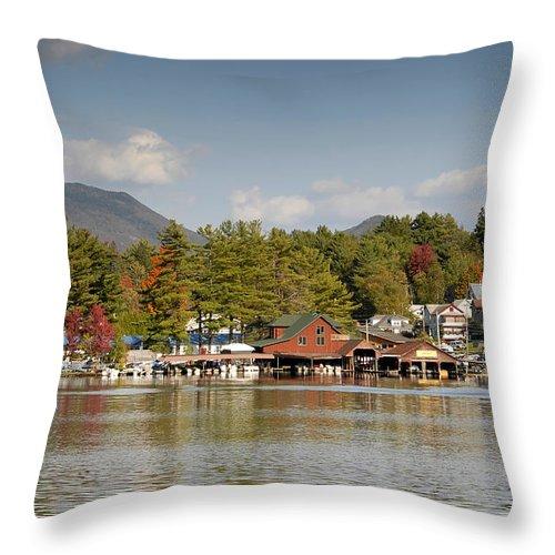 Saranac Lake New York Throw Pillow featuring the photograph Saranac Lake by David Lee Thompson