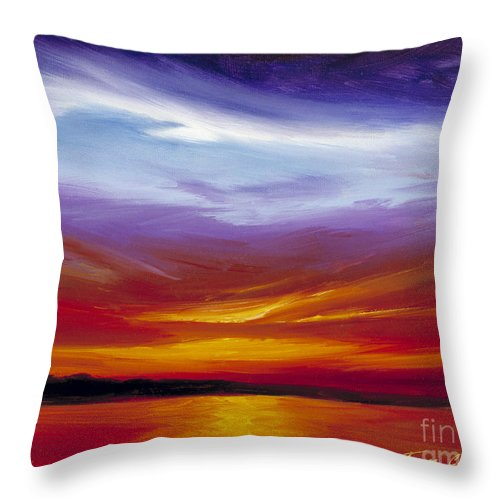 Skyscape Throw Pillow featuring the painting Sarasota Bay I by James Christopher Hill