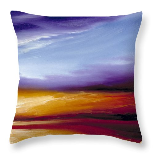 Skyscape Throw Pillow featuring the painting Sarasota Bay II by James Christopher Hill
