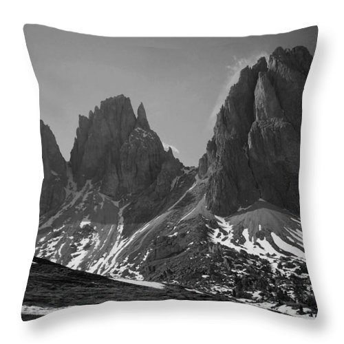 Europe Throw Pillow featuring the photograph Sasso Lungo by Juergen Weiss