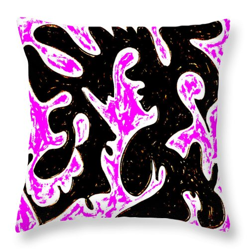 Square Throw Pillow featuring the digital art Saturday Night by Eikoni Images