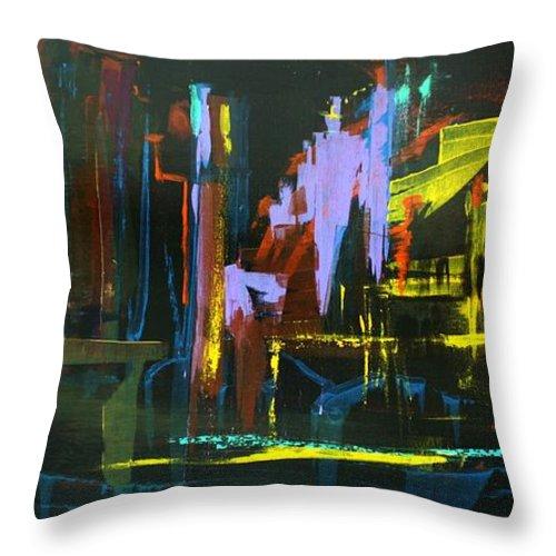 Saturday Night Throw Pillow featuring the painting Saturday Night by Jack Diamond