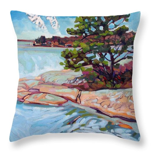 Savage Throw Pillow featuring the painting Savage Contrails by Phil Chadwick