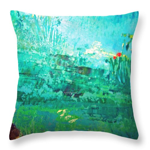 Forest Throw Pillow featuring the painting Savannah Dream by Patricia Taylor