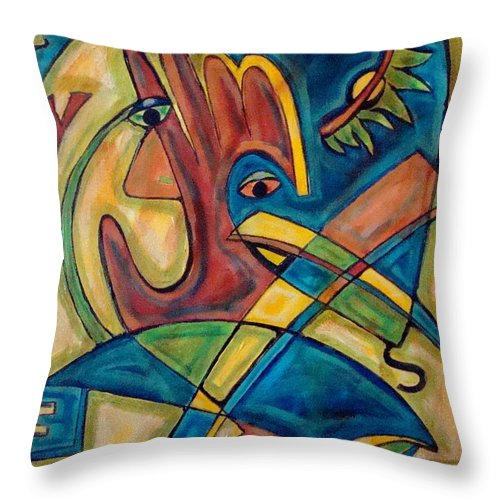 Christian Throw Pillow featuring the painting Save by W Todd Durrance