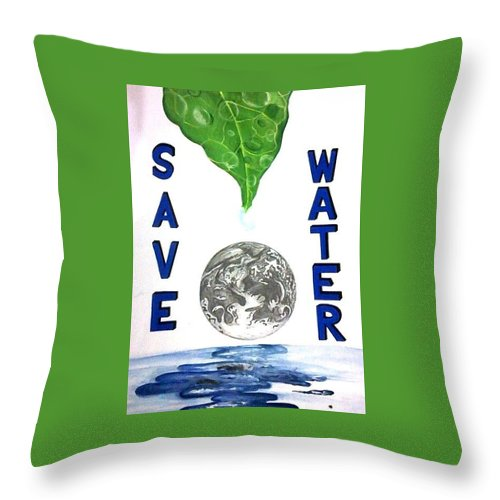 Save Water Poster Throw Pillow For Sale By Ankita Singh