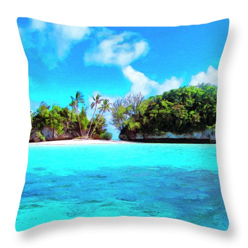 Saved Throw Pillow featuring the painting Saved by Dominic Piperata
