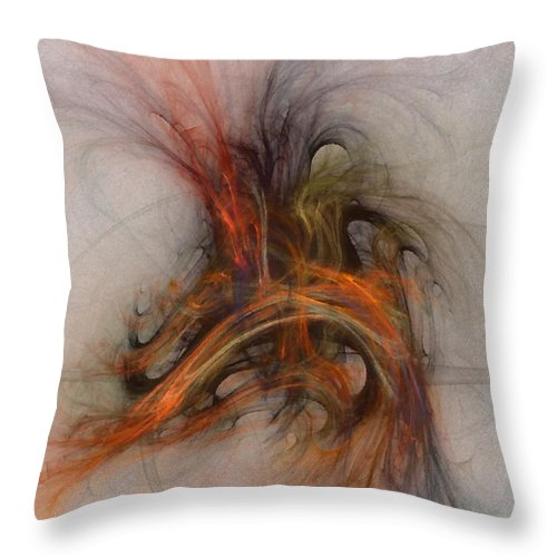 Saving Throw Pillow featuring the digital art Saving Omega - Fractal Art by NirvanaBlues