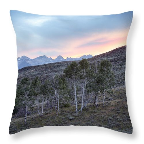 Idaho Throw Pillow featuring the photograph Sawtooth Light by Idaho Scenic Images Linda Lantzy