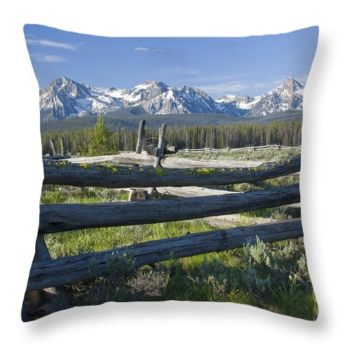 Sawtooth Throw Pillow featuring the photograph Sawtooth Range by Idaho Scenic Images Linda Lantzy