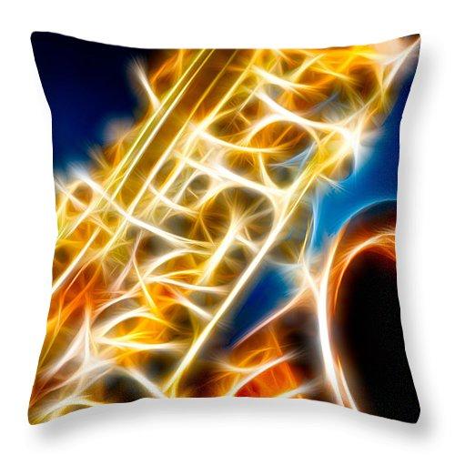 Canon Throw Pillow featuring the photograph Saxophone 2 by Hakon Soreide