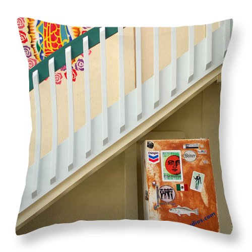 Urban Throw Pillow featuring the photograph Saying Grace by Jill Reger