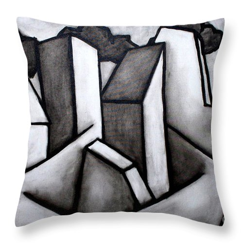 Absract Throw Pillow featuring the painting Scape by Thomas Valentine