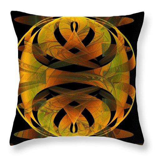 Digital Art Throw Pillow featuring the digital art Scarab by Amanda Moore