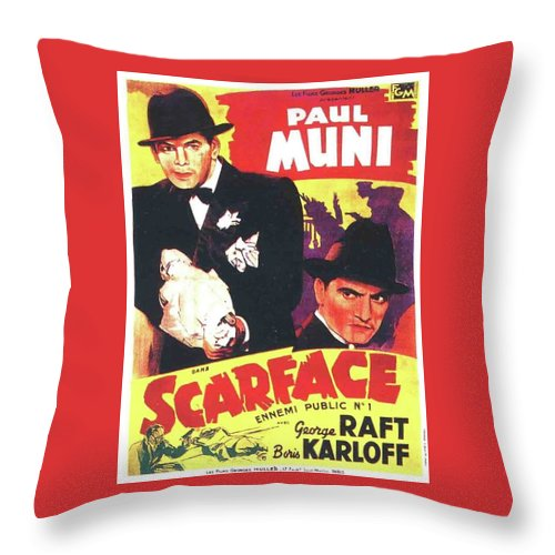 Scarface 1932 French Revival Unknown Date Throw Pillow featuring the photograph Scarface 1932 French Revival Unknown Date by David Lee Guss