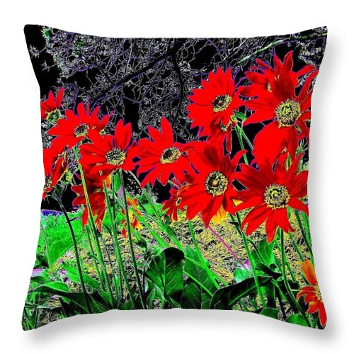 Abstract Throw Pillow featuring the digital art Scarlet Night by Will Borden