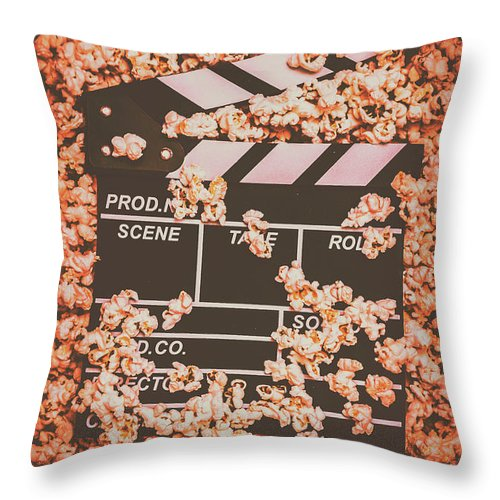Movie Throw Pillow featuring the photograph Scene From A Film Production by Jorgo Photography - Wall Art Gallery