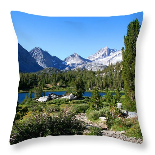 Scenic Mountain View Throw Pillow featuring the photograph Scenic Mountain View by Chris Brannen