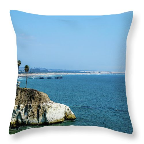 Scenic Throw Pillow featuring the photograph Scenic Outcropping by Ric Schafer