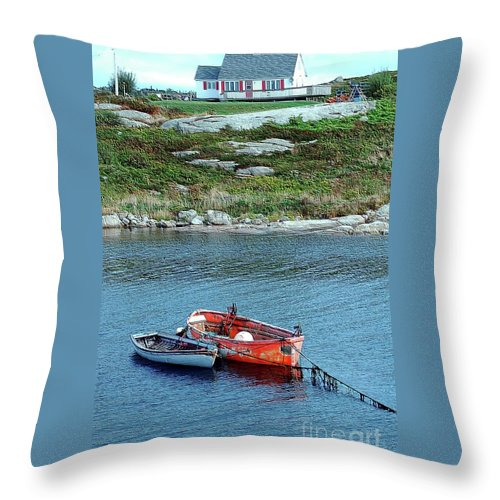 House Throw Pillow featuring the photograph Scenic Village by Kathleen Struckle