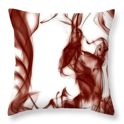 Clay Throw Pillow featuring the digital art Schizophrenia by Clayton Bruster