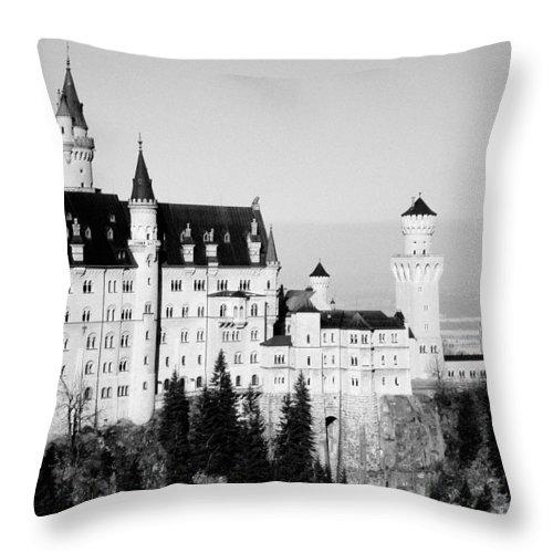 Europe Throw Pillow featuring the photograph Schloss Neuschwanstein by Juergen Weiss
