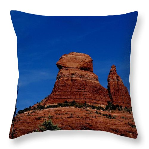 Schnebly Hill Throw Pillow featuring the photograph Schnebly Hill Vortex by The Art With A Heart By Charlotte Phillips