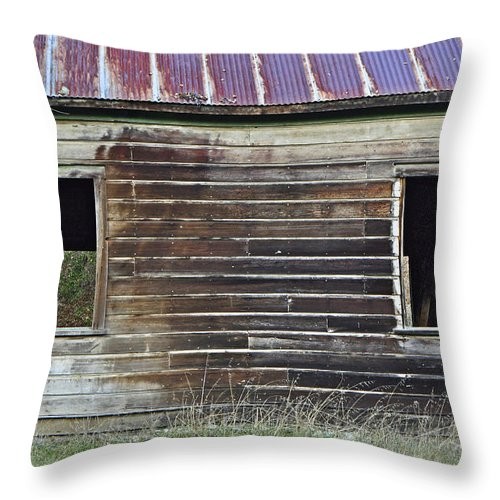 Schoolhouse Throw Pillow featuring the photograph Schoohouse Wall Of Old by Josephine Buschman