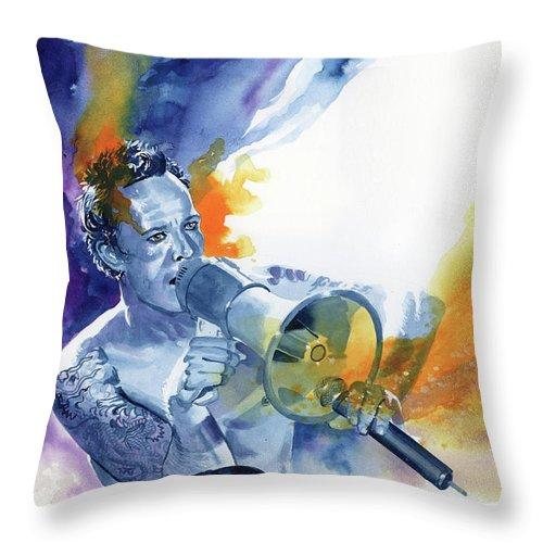Musicians Throw Pillow featuring the painting Scott Weiland by Ken Meyer jr