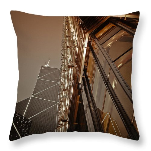 Loriental Throw Pillow featuring the photograph Scraping The Sky by Loriental Photography