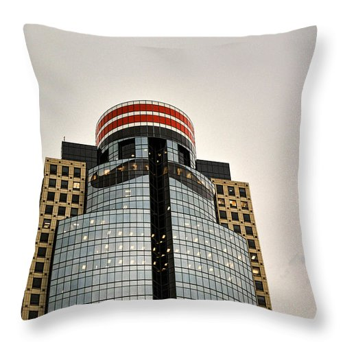 Reds Throw Pillow featuring the photograph Scripps Center - All Star Game by Tyler Mitchell