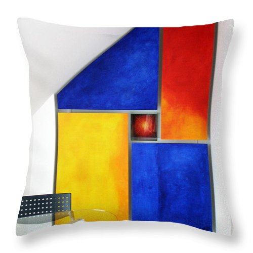 Roompaintings Throw Pillow featuring the painting S.cubic by Albert Kutzelnig