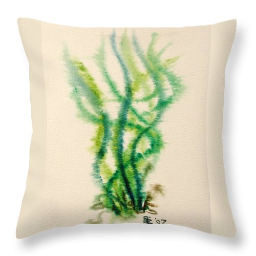Sea Throw Pillow featuring the painting Sea Bed One by Dave Martsolf