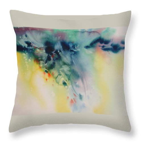 Abstract Throw Pillow featuring the painting Sea Breeze by Marlene Gremillion