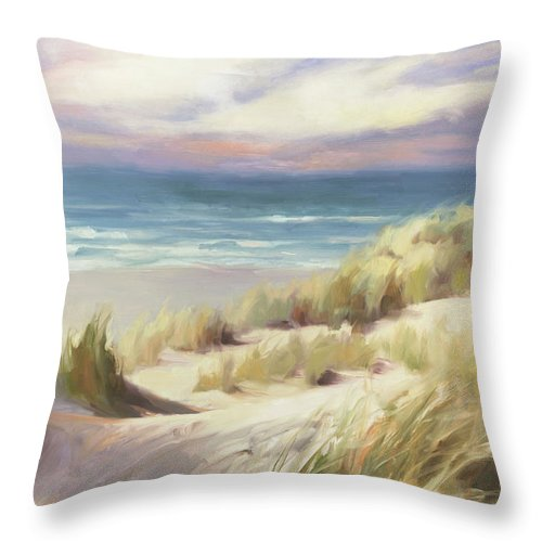 Ocean Throw Pillow featuring the painting Sea Breeze by Steve Henderson