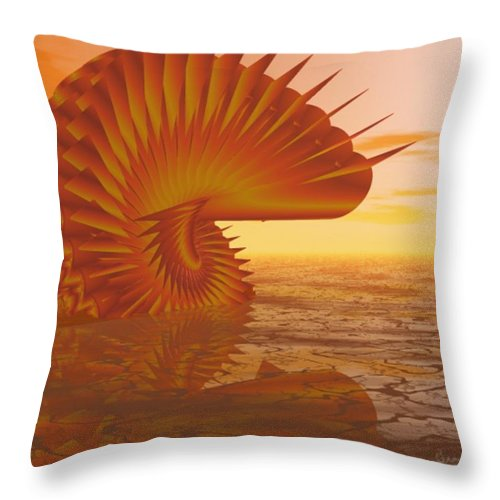 Sea Throw Pillow featuring the digital art Sea Creature by Gina Lee Manley
