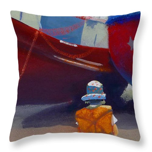 Dreamscape Throw Pillow featuring the painting Sea Dreamer by Charles Stuart