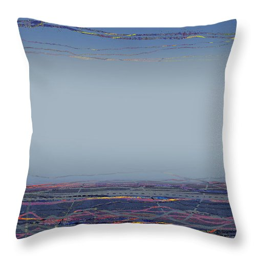 Mist Throw Pillow featuring the digital art Sea Mist II by Andy Mercer