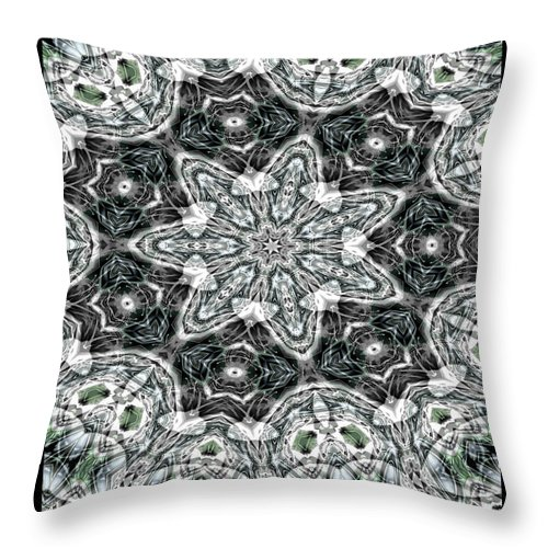Kaleidoscope Throw Pillow featuring the digital art Sea Of Tranquility by Charmaine Zoe