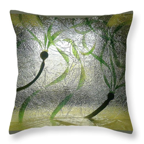Sea Throw Pillow featuring the painting Sea Scape by Rick Silas
