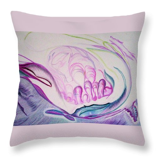 Abstract Painting Throw Pillow featuring the painting Sea by Suzanne Udell Levinger