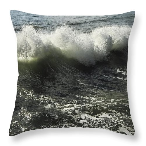 Aqua Throw Pillow featuring the photograph Sea Waves1 by Svetlana Sewell